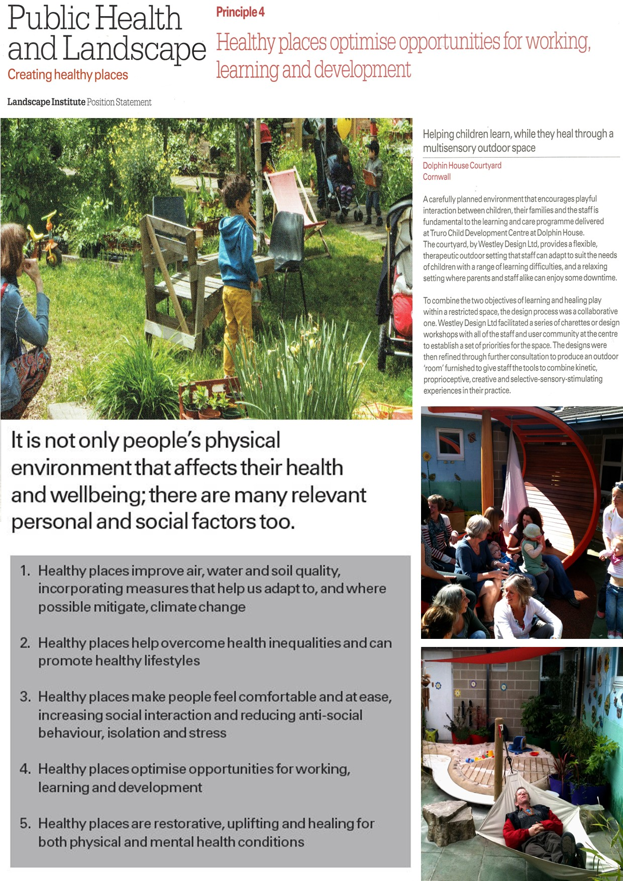 case study - creating healthy spaces