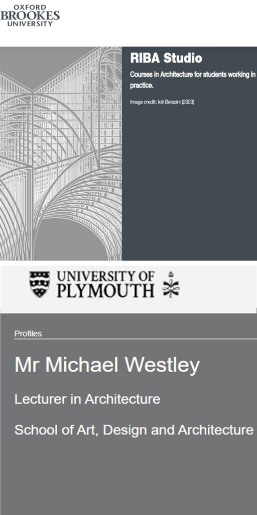 plymouth university mike westly lecturer in architecture